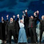 "Peter Strummer, Elizabeth Fischborn, Keith Phares, Stefan Barner and chorus in Aldridge and Garfein's ""Elmer Gantry"""